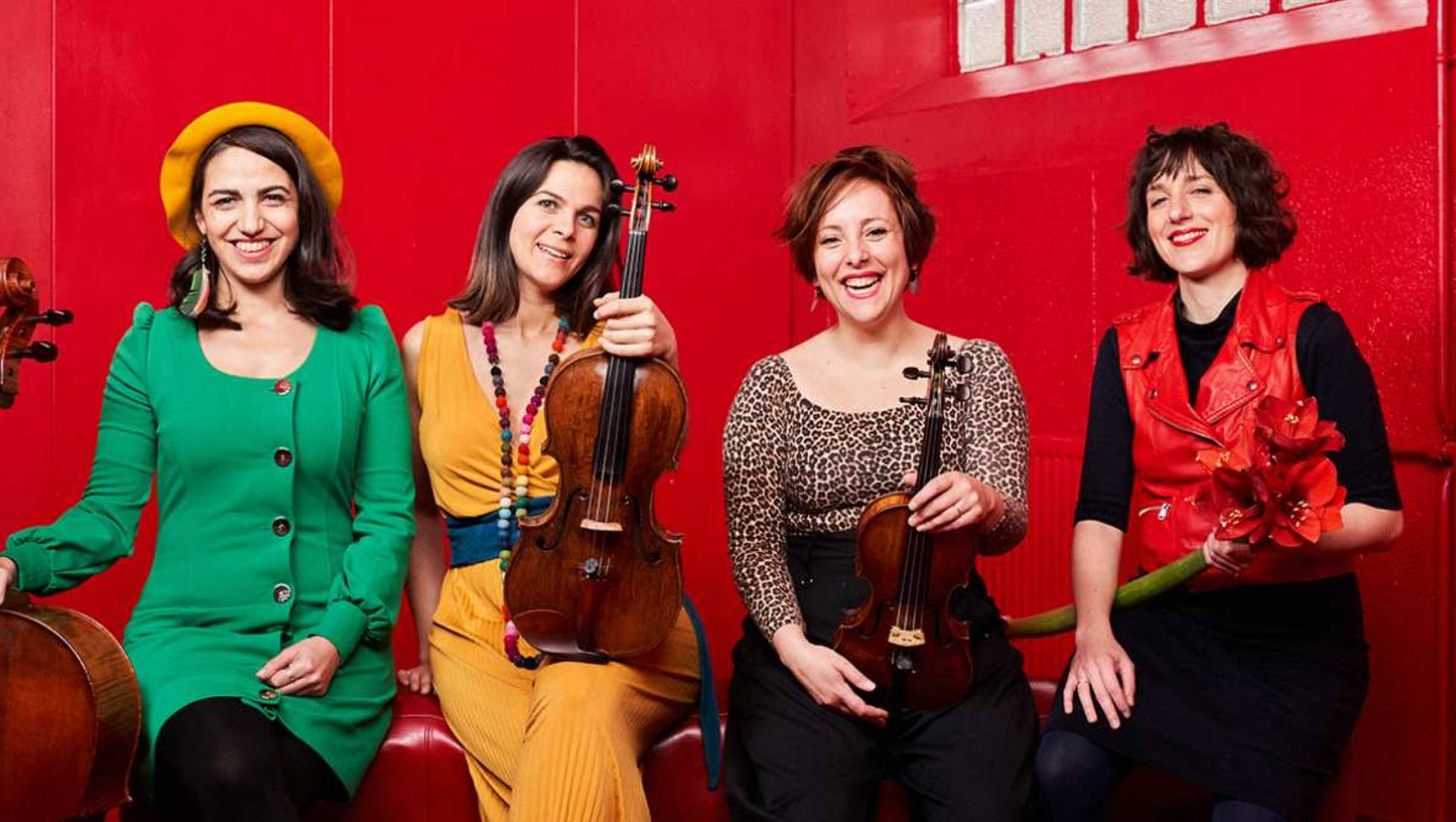 Quatuor Zaïde met Ludwig, Bryce en Fanny